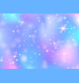 unicorn background with rainbow mesh vector image vector image