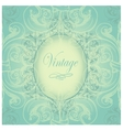 Vintage border with sample text on a seamless vector image vector image