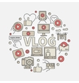 Vlog circular colorful vector image vector image