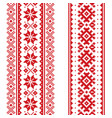 winter seamless pattern set - two christmas vector image