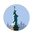 Statue of Liberty icon American sign vector image