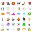 witch icons set isometric style vector image