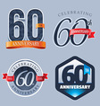 60 Years Anniversary Logo vector image vector image