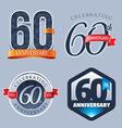 60 Years Anniversary Logo vector image vector image