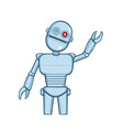 a isolated metallic robot saying hello vector image vector image