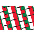 abstract mexican flag or banner vector image vector image