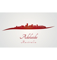 Adelaide skyline in red vector image vector image