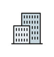 apartment buildings real estate flat color line vector image