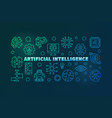 artificial intelligence colorful outline vector image vector image