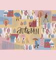 autumn design temlate vector image vector image
