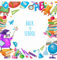 back to school template for poster vector image