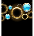 background with golden rings vector image vector image