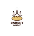 bakery logo bread icon vintage basket shop vector image
