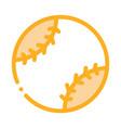 baseball ball icon outline vector image vector image
