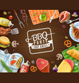 bbq party frame vector image vector image