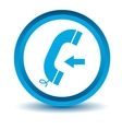 Blue incoming call icon vector image vector image