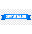 blue stripe with army sergeant caption vector image