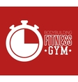 bodybuilding fitness gym chronometer icon design vector image vector image