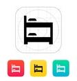 Bunk bed icon vector image