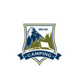 camping activity sign vector image vector image