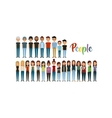 cartoon young people vector image vector image