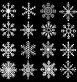 Chalkboard Snowflakes Silhouette vector image vector image