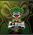 clown sport mascot logo design vector image