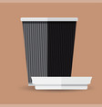 coffee cup flat design - graphic vector image vector image