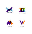 colorful logo type letter design vector image vector image