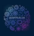 coronavirus in australia round line colored vector image