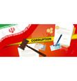 corruption in iran dirty money deal in business vector image vector image