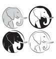 Elephant set vector image