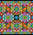 ethnic embroidery style floral colorful seamless vector image