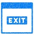 Exit Caption Calendar Page Grainy Texture Icon vector image vector image