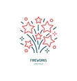 fireworks line icon logo for event service vector image vector image