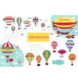 flat hot air balloons composition vector image vector image