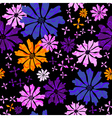 floral seamless black pattern vector image
