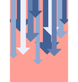 Graph down arrows vector image vector image