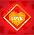 happy valentines day and weeding design elements vector image vector image
