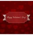Horizontal realistic Valentines Day Banner vector image