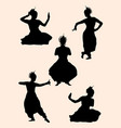 indian dancer silhouette 02 vector image vector image