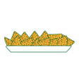 isolated nachos design vector image vector image