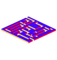 isometric maze labyrinth solution concept vector image