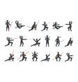 japanese ninja assassin in full black costume vector image vector image