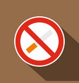 no smoking icon flat style vector image vector image