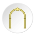 Oval arch icon flat style