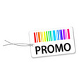 paper tags with barcode and promo on white with vector image vector image