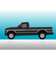 Pick-up truck black vector image vector image