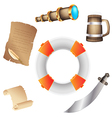 Pirates icon vector image
