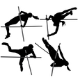 Pole Vault Silhouette vector image vector image